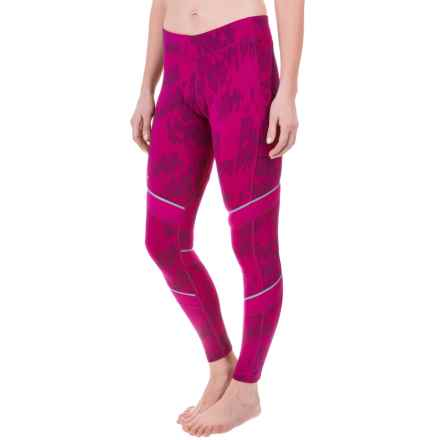 SmartWool PhD Printed Tights - Merino Wool (For Women) in Berry - Closeouts