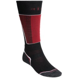 SmartWool PhD Racer Ski Socks - Midweight, Merino Wool, Over the Calf (For Men and Women) in Graphite/Orange