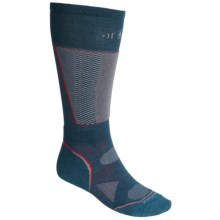 SmartWool PhD Racer Ski Socks - Midweight, Merino Wool, Over the Calf (For Men and Women) in Deep Sea - 2nds
