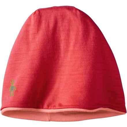 SmartWool PhD Reversible Beanie - Merino Wool (For Men and Women) in Hibiscus - Closeouts