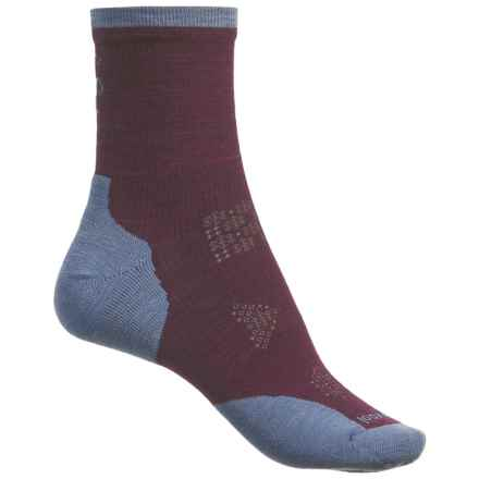 SmartWool PhD Run Cold Weather Socks - Merino Wool, Crew (For Women) in Bordeaux - Closeouts