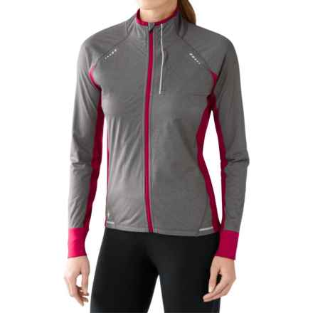 SmartWool PhD Run Divide Jacket - Merino Wool (For Women) in Persian Red - Closeouts