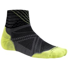SmartWool PhD Run Elite Ankle Socks - Merino Wool (For Men and Women) in Graphite - Closeouts