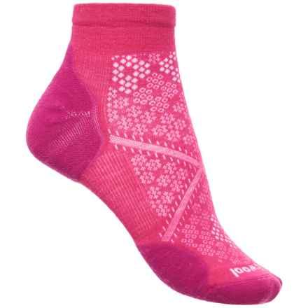 SmartWool PhD Run Elite Low-Cut Socks - Merino Wool, Ankle (For Women) in Potion Pink - Closeouts