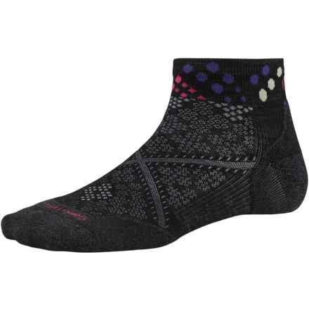 SmartWool PhD Run Elite Pattern Socks - Merino Wool, Ankle (For Women) in Black - Closeouts