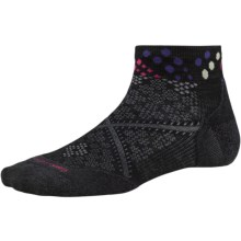 SmartWool PhD Run Elite Pattern Socks - Merino Wool, Below the Ankle (For Women) in Black - Closeouts