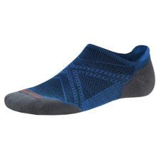 SmartWool PhD Run Elite Socks - Merino Wool, Below-the-Ankle (For Men and Women) in Bright Blue - 2nds