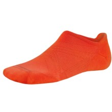 SmartWool PhD Run Elite Socks - Merino Wool, Below-the-Ankle (For Men and Women) in Bright Orange - 2nds
