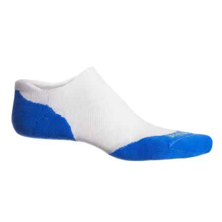 SmartWool PhD  Run Elite Socks - Merino Wool, Below the Ankle (For Men and Women) in Whte/Bright Blue - Closeouts
