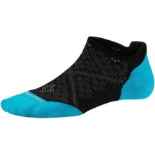 SmartWool PhD Run Elite Socks - Merino Wool, Below the Ankle (For Women) in Black/Capri - Closeouts