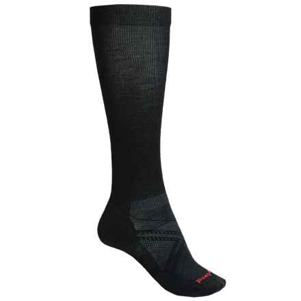 SmartWool PhD Run Graduated Compression Ultralight Socks - Merino Wool, Over the Calf (For Men) in Black - 2nds