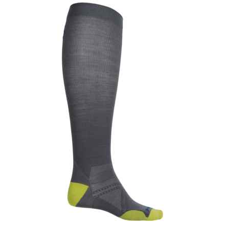 SmartWool PhD Run Graduated Compression Ultralight Socks - Merino Wool, Over the Calf (For Men) in Graphite - Closeouts