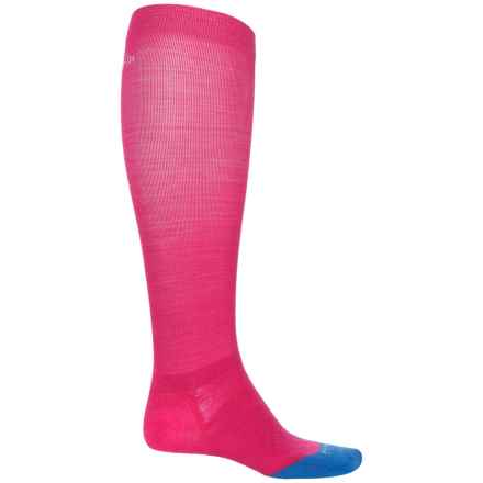 SmartWool PhD Run Graduated Compression Ultralight Socks - Merino Wool, Over the Calf (For Women) in Bright Pink - 2nds