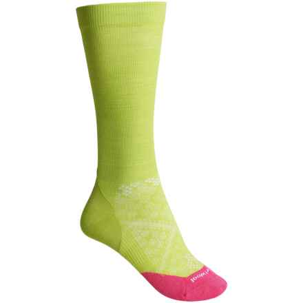 SmartWool PhD Run Graduated Compression Ultralight Socks - Merino Wool, Over the Calf (For Women) in Smartwool Green - 2nds
