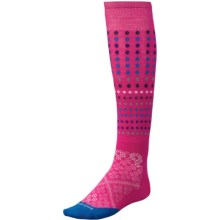 SmartWool PhD Run Knee-High Socks - Merino Wool, Over the Calf (For Men and Women) in Bright Pink - 2nds