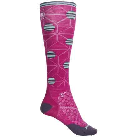 SmartWool PhD Run Knee-High Socks - Merino Wool, Over the Calf (For Women) in Berry - Closeouts