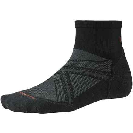 SmartWool PhD Run Light Elite Mini Socks - Merino Wool, Ankle (For Men and Women) in Black - 2nds