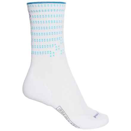 SmartWool PhD Run Light Elite Patterned Socks - Merino Wool, Crew (For Women) in White - 2nds