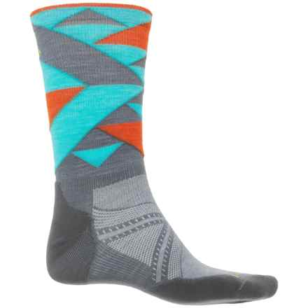 SmartWool PhD Run Light Elite Socks - Merino Wool, Crew (For Men) in Graphite - Closeouts