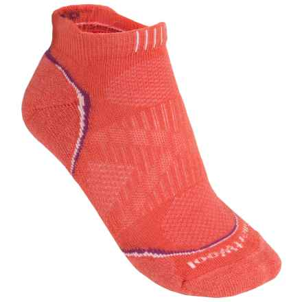 SmartWool PhD Run Light Micro Socks - Merino Wool Blend, Below-the-Ankle (For Women) in Poppy - 2nds