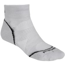 SmartWool PhD Run Light Mini Socks - Merino Wool, Ankle (For Men and Women) in Silver/Black - 2nds