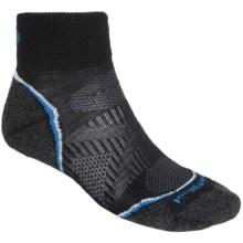 SmartWool PhD Run Light Mini Socks - Merino Wool, Ankle (For Women) in Black - 2nds