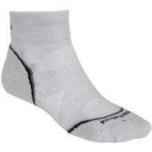 SmartWool PhD Run Light Mini Socks - Merino Wool, Ankle (For Women) in Silver/Black - 2nds