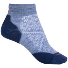 SmartWool PhD Run Light Mini Socks - Merino Wool, Below the Ankle (For Women) in Blue Steel - 2nds