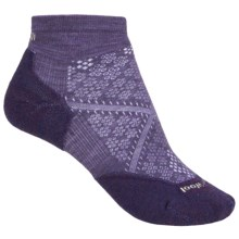 SmartWool PhD Run Light Mini Socks - Merino Wool, Below the Ankle (For Women) in Desert Purple - 2nds