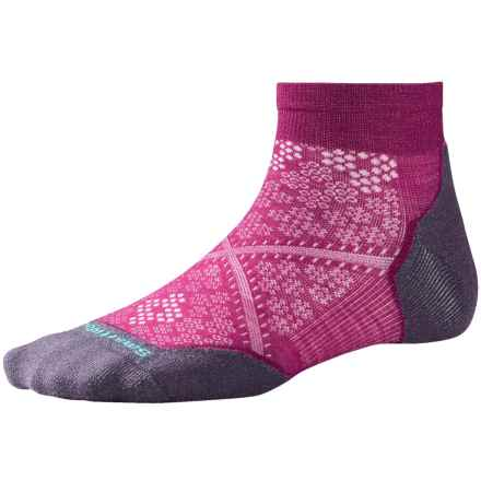 SmartWool PhD Run Light Socks - Merino Wool, Ankle (For Women) in Berry - 2nds