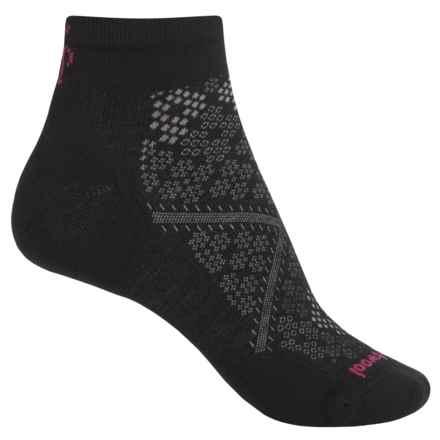 SmartWool PhD Run Light Socks - Merino Wool, Ankle (For Women) in Black - 2nds