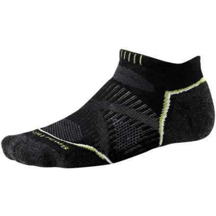 SmartWool PhD Run Light Socks - Merino Wool, Below-the-Ankle (For Men and Women) in Black - 2nds