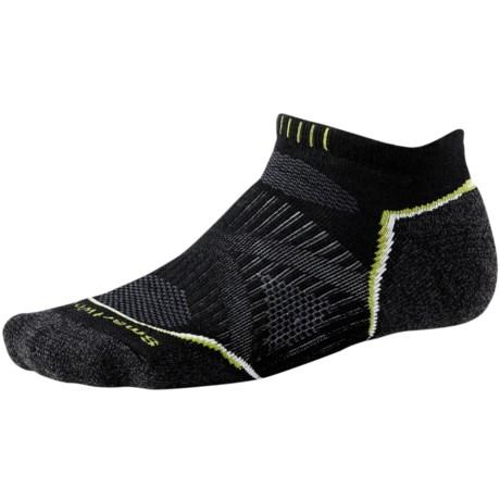 SmartWool PhD Run Light Socks - Merino Wool, Below-the-Ankle (For Men and Women) in Black