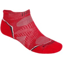 SmartWool PhD Run Light Socks - Merino Wool, Below-the-Ankle (For Men and Women) in Bright Red - 2nds