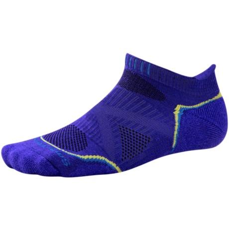 SmartWool PhD Run Light Socks - Merino Wool, Below-the-Ankle (For Men and Women) in Liberty