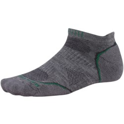 SmartWool PhD Run Light Socks - Merino Wool, Below-the-Ankle (For Men and Women) in Medium Grey