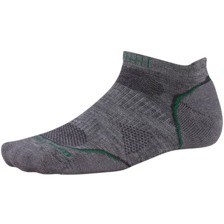 SmartWool PhD Run Light Socks - Merino Wool, Below-the-Ankle (For Men and Women) in Black