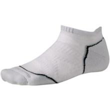 SmartWool PhD Run Light Socks - Merino Wool, Below-the-Ankle (For Men and Women) in Silver - 2nds