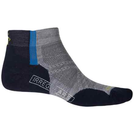 SmartWool PhD Run Lite Elite Pattern Low-Cut Socks - Below the Ankle (For Men and Women) in Navy / Grey Heather - 2nds
