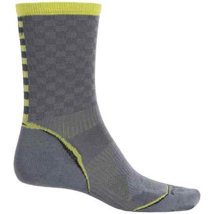 SmartWool PhD Run Pattern Socks - Merino Wool, Crew (For Men and Women) in Graphite - 2nds