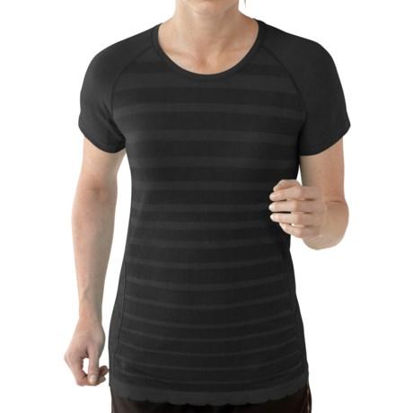 SmartWool PhD Run Shirt - Merino Wool, Short Sleeve (For Women) in Black