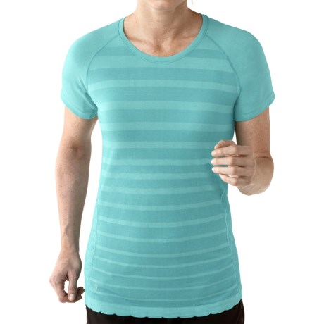 SmartWool PhD Run Shirt Merino Wool, Short Sleeve (For Women)