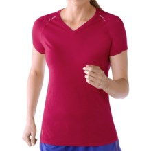 SmartWool PhD Run Shirt - UPF 30, Merino Wool, Short Sleeve (For Women) in Persian Red - Closeouts