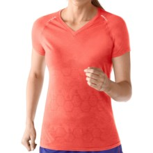 SmartWool PhD Run Shirt - UPF 30, Merino Wool, Short Sleeve (For Women) in Poppy - Closeouts
