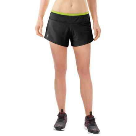 SmartWool PhD Run Shorts - Merino Wool, Built-In Brief (For Women) in Black - Closeouts