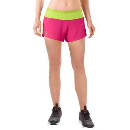 SmartWool PhD Run Shorts - Merino Wool, Built-In Brief (For Women) in Bright Pink - Closeouts