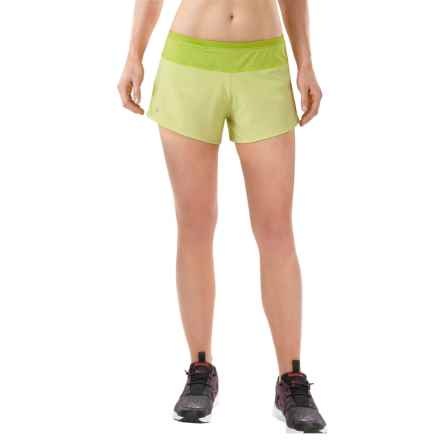 SmartWool PhD Run Shorts - Merino Wool, Built-In Brief (For Women) in Citron - Closeouts