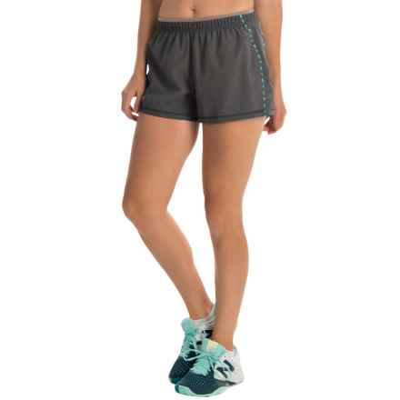 SmartWool PhD Run Shorts - Merino Wool, Built-In Brief (For Women) in Graphite - Closeouts