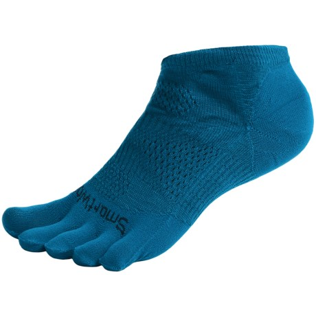 SmartWool PhD Run Toe Socks - Merino Wool, Ankle, Ultralight (For Men and Women) in Arctic Blue