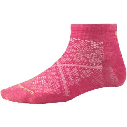 SmartWool PhD Run Ultralight Ankle Socks - Merino Wool  (For Women) in Bright Pink - 2nds